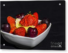 Strawberries And Cream Acrylic Print by Brian Roscorla