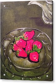 Acrylic Print featuring the painting Strawberries by Brindha Naveen