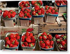 Strawberries For Sale At Weekly Market Acrylic Print