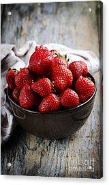 Strawberries Acrylic Print by Jelena Jovanovic