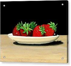 Strawberries Acrylic Print by Karyn Robinson