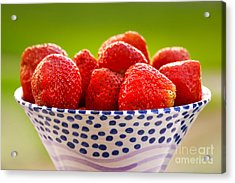 Strawberries Acrylic Print by Lutz Baar
