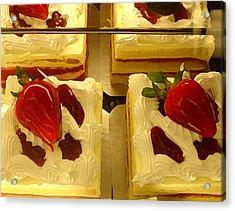 Strawberry Cakes Acrylic Print by Amy Vangsgard