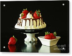 Strawberry Chocolate Dream Cake Acrylic Print by Inspired Nature Photography Fine Art Photography