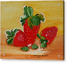 Strawberry Delight Acrylic Print by Johanna Bruwer