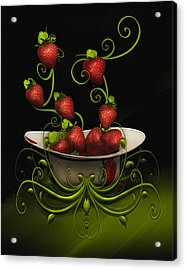 Strawberry Fancy Acrylic Print
