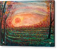 Strawberry Fields Forever Acrylic Print by Anais DelaVega