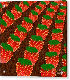Strawberry Fields Forever Acrylic Print by Andee Design