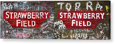 Strawberry Fields Forever Acrylic Print by Semmick Photo