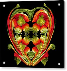 Strawberry Heart Acrylic Print
