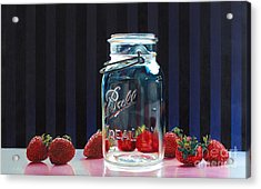 Strawberry Jam Acrylic Print by Arlene Steinberg