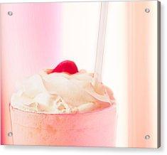 Strawberry Milkshake Acrylic Print