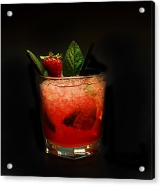 Strawberry Mojito Acrylic Print by Gina Dsgn