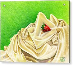 Acrylic Print featuring the painting Strawberry Passion by Nancy Cupp