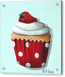 Strawberry Shortcake Cupcake Acrylic Print