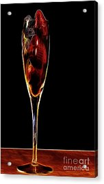 Acrylic Print featuring the photograph Strawberry Sparkler by Shirley Mangini