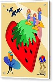 Strawberry Wars Acrylic Print by Bob Winberry