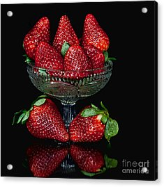 Strawberry Yum Acrylic Print by Shirley Mangini