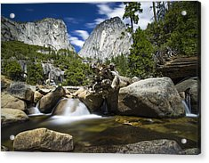 Acrylic Print featuring the photograph Stream Above Vernal Falls by Mike Lee