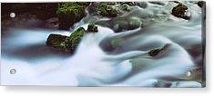 Stream Flowing Through Rocks, Alley Acrylic Print