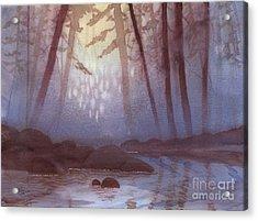 Stream In Mist Acrylic Print