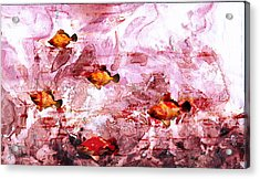 Acrylic Print featuring the painting Streaming by Ron Richard Baviello