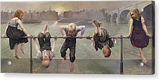 Street Arabs At Play Acrylic Print by Dorothy Stanley
