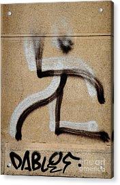 Acrylic Print featuring the photograph Street Art 'dablos' Graffiti In Bucharest Romania  by Imran Ahmed
