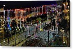Acrylic Print featuring the digital art Street Art II by Visual Artist Frank Bonilla