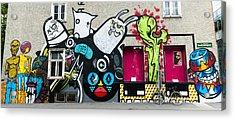 Street Art In Austria  Acrylic Print by Pedro Nunez