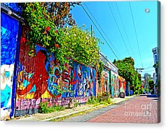 Street Art In The Mission District Of San Francisco IIi Acrylic Print by Jim Fitzpatrick