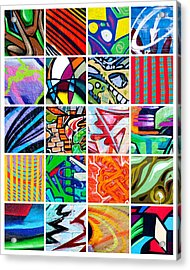 Street Art Patchwork Acrylic Print by Art Block Collections
