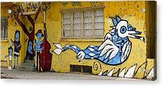 Street Art Valparaiso Chile 12 Acrylic Print by Kurt Van Wagner