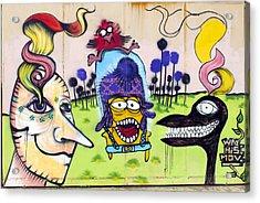 Street Art Valparaiso Chile 3 Acrylic Print by Kurt Van Wagner