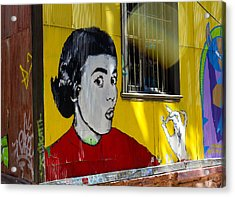 Street Art Valparaiso Chile 7 Acrylic Print by Kurt Van Wagner