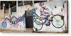 Street Art Valparaiso Chile Acrylic Print by Kurt Van Wagner