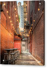 Acrylic Print featuring the photograph Street Cafe by Anna Rumiantseva