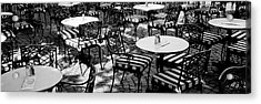 Street Cafe, Frankfurt, Germany Acrylic Print by Panoramic Images