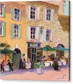 Street Cafe Acrylic Print by J Reifsnyder