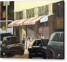 Street Cafe Acrylic Print