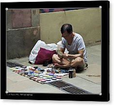 Acrylic Print featuring the photograph Street Cans Craftsman by Pedro L Gili