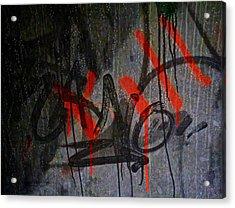 Street Conversation Acrylic Print by Odd Jeppesen