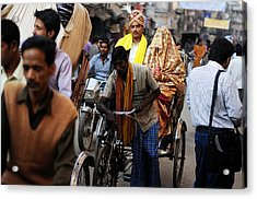 Street Couple Acrylic Print by Money Sharma