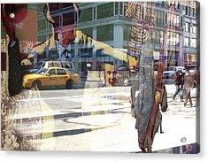 Street Fighting Man Acrylic Print by Heidi Horowitz