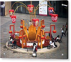 Street Furniture In Beijing Acrylic Print by Alfred Ng