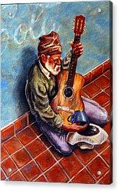 Street Guitar    Acrylic Print by Dan Terry