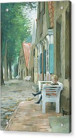 Street In Altenbruch Acrylic Print by Thomas Ludwig Herbst