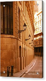 Street In Barcelona Acrylic Print by Sophie Vigneault