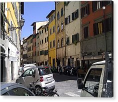 Street In Florence Acrylic Print by Ted Williams