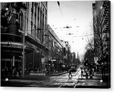 Street In Melbourne  Acrylic Print by Sanjeewa Marasinghe